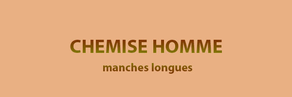 chemise-homme-manches-longues