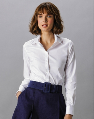 Women`s Tailored Fit Stretch Oxford Shirt LS