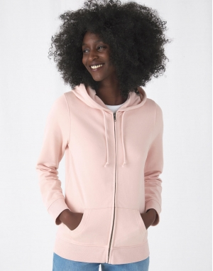 Organic Zipped Hooded /women