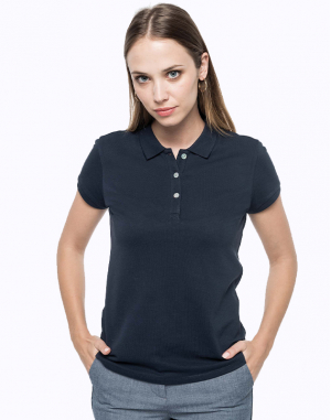Polo Supima® manches courtes femme