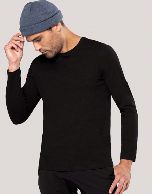 T-shirt col rond manches longues homme