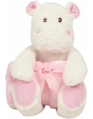 Peluche hippopotame avec couverture